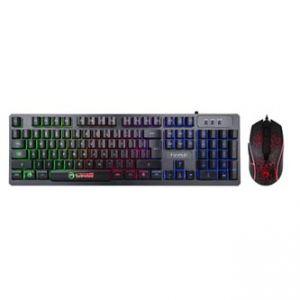 MARVO KM408 Sada klávesnice herní, černá, drátová (USB), US, s herní myší, membránová, po