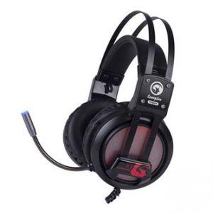 MARVO HG9028 sluchátka s mikrofonem, ovládání hlasitosti, černá, 7.1 surround (virtuální