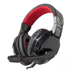 MARVO H8329 sluchátka s mikrofonem, ovládání hlasitosti, černá, herní, 2x 3.5 mm jack
