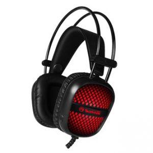 MARVO HG8941 sluchátka s mikrofonem, ovládání hlasitosti, černá, podsvícená, 2x 3.5 mm j
