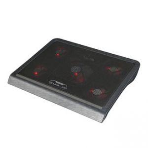 MARVO FN-33RD Chladič notebooků pod notebook podsvícený, s větrákem, černo-červený
