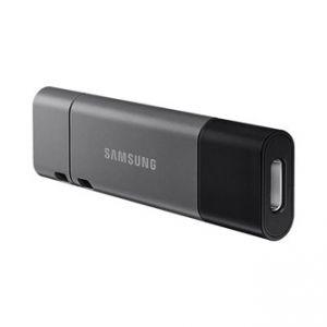 SAMSUNG USB flash disk, 3.1, 256GB, DUO Plus, šedý, MUF-256DB/EU, s krytkou, odnímatelná r