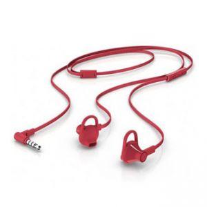 HP, 150, sluchátka s mikrofonem, bez ovládání hlasitosti, červená, 3.5 mm jack špuntová