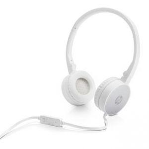 HP, H2800, sluchátka s mikrofonem, ovládání hlasitosti, bílo-stříbrná, 3.5 mm jack klasick