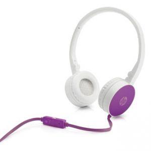 HP H2800 sluchátka s mikrofonem, ovládání hlasitosti, purpurová, 3.5 mm jack klasická