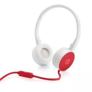 HP, H2800, sluchátka s mikrofonem, ovládání hlasitosti, červená, 3.5 mm jack klasická