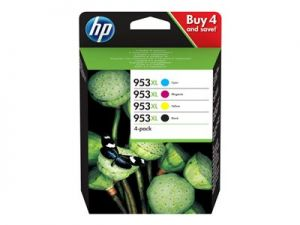 HP 953XL High Yield C/M/Y/K Original Ink Cartridge  4-pack