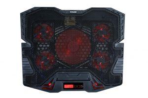 EVOLVEO Ania 5R, chladicí podstavec pro notebook, červené podsvícení