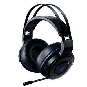 RAZER Thresher 7.1 PS4, sluchátka s mikrofonem, ovládání hlasitosti, černá, USB dongle