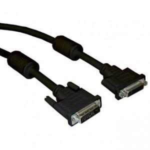 Kabel DVI (24+1) M- DVI (24+5) F, Dual link, 3m, černá, Logo
