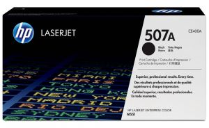 HP originální toner CE400A, black, 5500str., HP 507A, HP LaserJet Enterprise 500 color M55