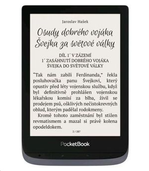 PocketBook 632 Touch HD 3, Metallic Grey, 16GB, šedý ebook reader, 6´´ E-ink1488 x 1072 LC