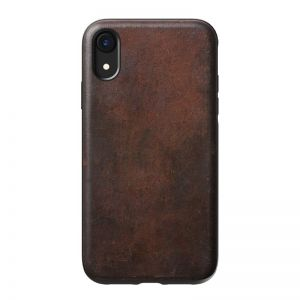 NOMAD Rugged Leather case, brown - APPLE iPhone XR
