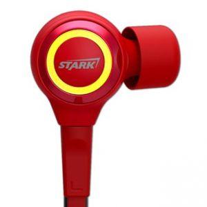 E-BLUE, IRON MAN EEP914, sluchátka s mikrofonem, ovládání hlasitosti, červená, s plochým k