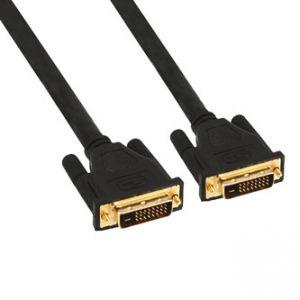 Kabel DVI (24+1) M- DVI (24+1) M, Dual link, 5m, zlacené konektory, stíněný, černý