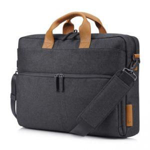 """HP ENVY Urban 15 Topload - Taška na notebook 15,6"""" šedá z polyesteru, rukojeť z pravé kůže"""