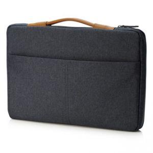 """HP ENVY Urban 15.6 Sleeve - na notebook 15,6"""", šedý z polyesteru, s koženou rukojetí, HP"""
