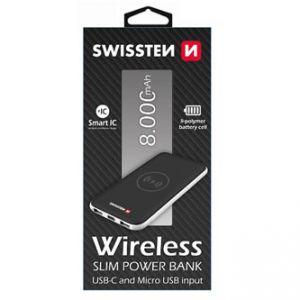 SWISSTEN, powerbanka, Li-Pol, 5V, 8000mAh, nabíjení mobilních telefonů aj., bezdrátové nab