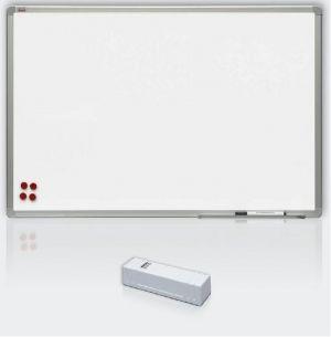 Magnetická tabule, keramický matný povrch, hliníkový rám, 120 x 300 cm