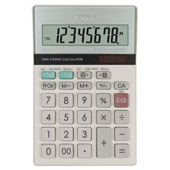 2bb22c11eb1d4 Kalkulačka SHARP, ELM710G, šedo-modrá, stolní, osmimístná | PeKro ...