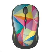 TRUST Myš Yvi Wireless Mouse USB, geometrics