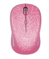 TRUST Myš Yvi Wireless Mouse USB, pink (růžová)