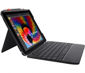 Logitech SLIM COMBO Case with Bluetooth Keyboard for iPad 5th & 6th generation - UK INTNL