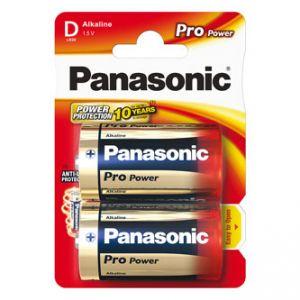 Baterie alkalická, velký monočlánek, D, 1.5V, Panasonic, blistr, 2-pack, Pro Power
