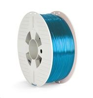 VERBATIM 3D Printer Filament PET-G 1.75mm 1000g blue transparent