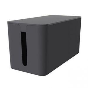 Organizér kabelů, box, černý