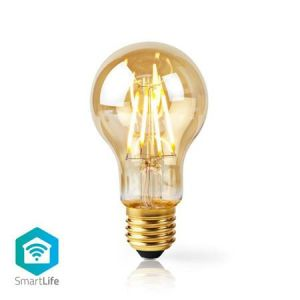 Nedis WIFILF10GDA60 - WiFi Chytrá LED Žárovka s vláknem | E27 | A60 | 5 W | 500 lm