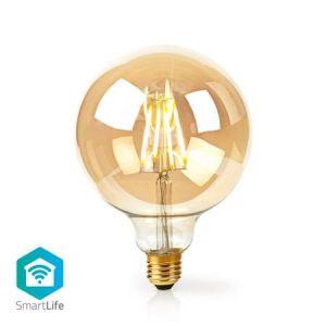 Nedis WIFILF10GDG125 - WiFi Chytrá LED Žárovka s Vláknem | E27 | 125 mm | 5 W | 500 lm