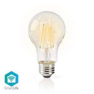 Nedis WIFILF10WTA60 - Wi-Fi Chytrá LED Žárovka s vláknem | E27 | Bílá | A60