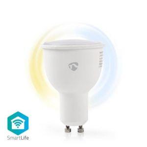 Nedis WIFILW10WTGU10 - WiFi Chytrá LED Žárovka | Teplá až Studená Bílá | GU10