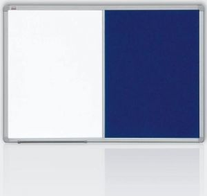 Kombinovaná tabule 60x90 filc modrý/magnet., rám ALU23