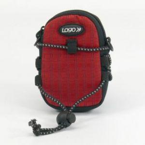 Pouzdro na fotoaparát, nylon, červené, 10,7 x 6,2 x 2,4cm LOGO