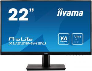 """22"""" iiyama XU2294HSU-B1: VA, FullHD@75, 250/cdm2, 4ms, VGA, HDMI, DP, USB, černý"""