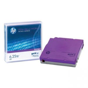 HP LTO Ultrium WORM 6, 2.6/TB 6.25TB, s popisnými štítky, purpurová, C7976AW, pro archivac