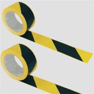 Bezpečnostní páska, žlutá-černá, nelepící, 200 m, 7 cm