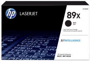 HP  originální toner CF289X Černá/Black HP 89X 10000str HP LaserJet Enterprise M507, M52