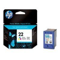 HP C9352A inkoust tříbarevná  22 - prošlá exp (aug2012); obal B (viz. popis)