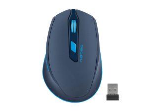 Tichá bezdrátová myš Natec Siskin 2400 DPI, modrá