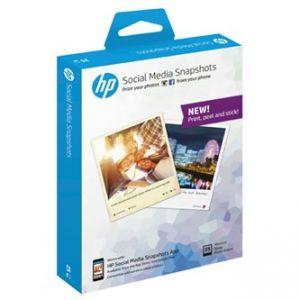 HP Social Media Snapshots, Samolepící fotopapír 25 listů 10x13 cm, 265g/m2