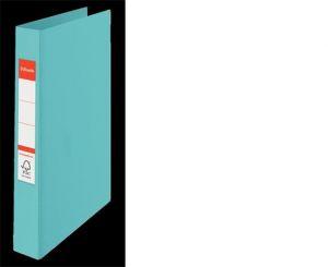 Tvrdé desky s PP. 25 mm, 2 kulaté kroužky. A4, modré