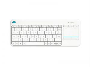 Logitech Wireless Touch Keyboard K400 plus, USB,CZ, bílá