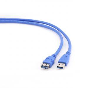 Kabel USB A-A 3m USB 3.0 prodlužovací, černý