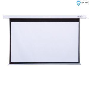 """4World Projekční plátno elektrické DO 204x134.5 108"""" 16:9"""