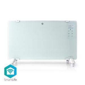 Nedis WIFIHTPL20FWT - Chytré Wi-Fi Konvekční Topné Těleso   Termostat   Skleněný Přední Pa