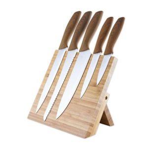 PLATINET sada 5 kuchyňských nožů s magnetickým stojanem