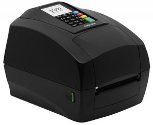 Custom TT/DT tiskárna etiket D4 302-K, 203dpi, USB/RS232, display, keyboard,černá